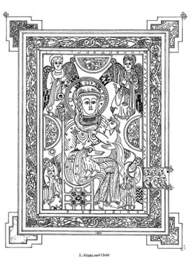 The book of kells coloring pages